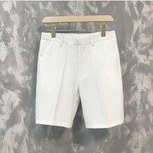 Новинка 2020, мужские брюки в пятиконечную полоску, летние трендовые повседневные брюки средней длины в 5 баллов, дикие Молодежные свободные б...