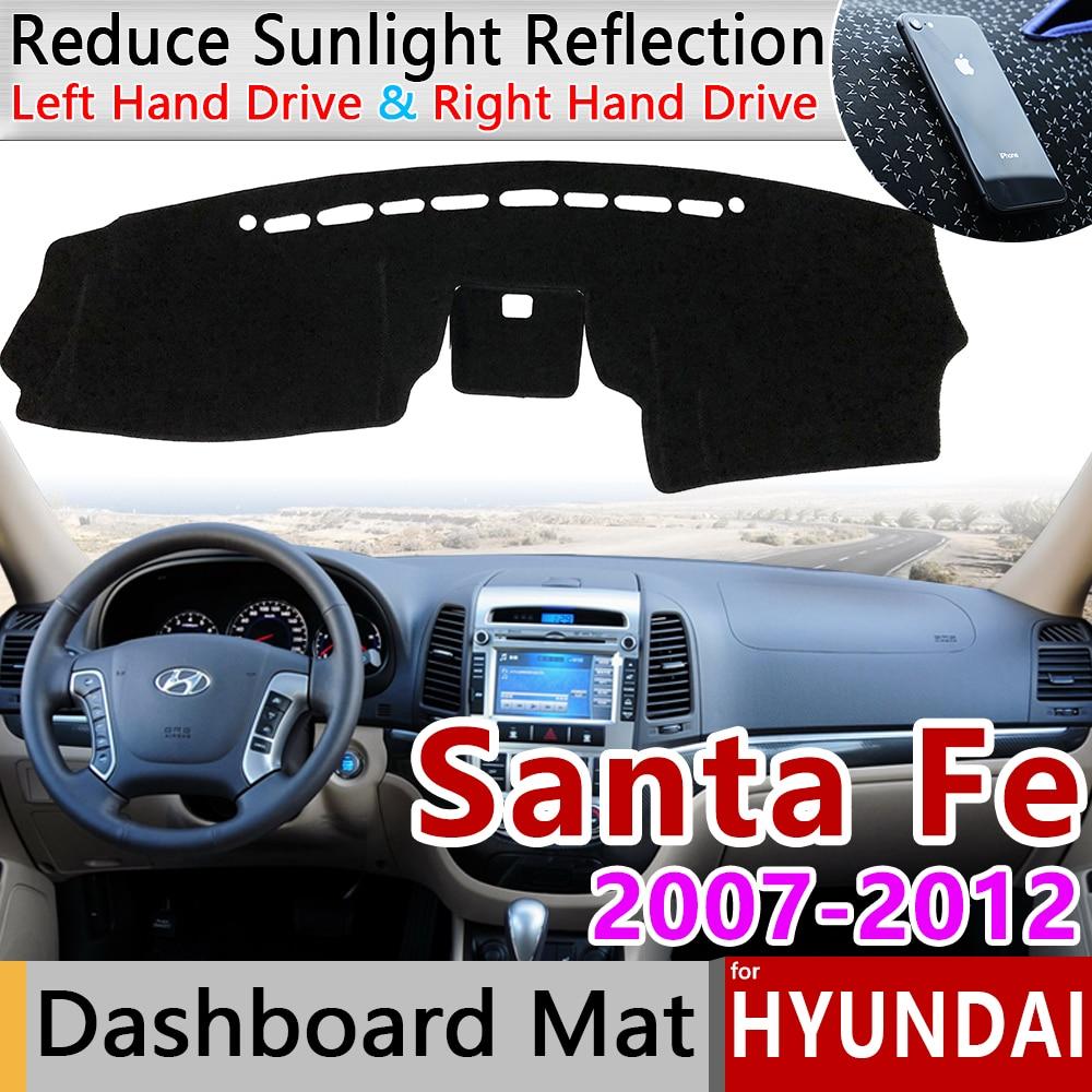 Для hyundai Santa Fe 2007 2008 2009 2010 2011 2012 см Противоскользящий коврик на приборную панель солнцезащитный коврик для защиты автомобильных аксессуаров