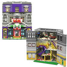 UG10181 City Architectural Series Model  Joker Clown Theme Paradise Building Block DC Toys With Figure MOC Child Christmas Gifts