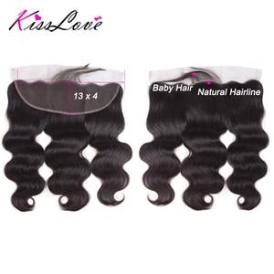Image 5 - Body Wave Bundles with Frontal Brazilian Hair Weave Bundles with Closure Remy Human Hair Extensions Kiss Love
