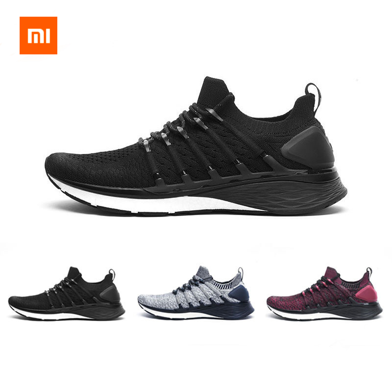 Original Xiaomi Mijia Sneaker Sports Shoes 3 Running Shoes Popcorn Cloud Bomb 6 In 1 Uni Molding With 3D Lock Fishbone System