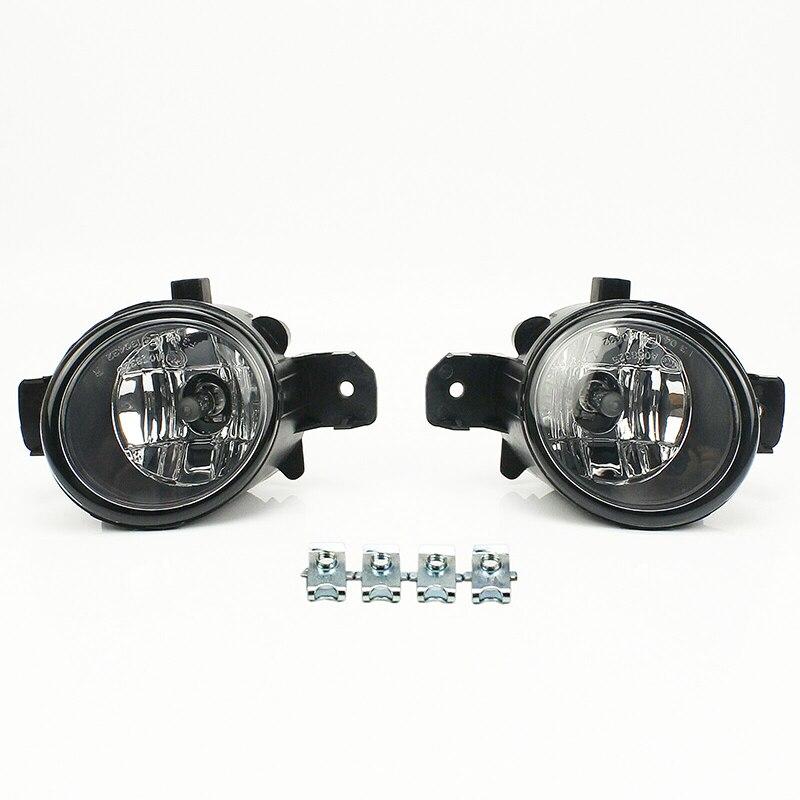 2 Pcs Hight Quality Car Front Bumper Driving Daytime Halogen Lamp Black Fog Lights With H11 12V 55W