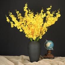 10 шт. Искусственные цветы Бабочка Орхидея нетканые ткани искусственный цветок ветка украшения дома свадьба Страна Декор