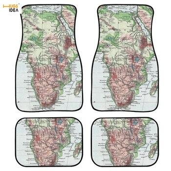 Car Interior Protection World Map Print Car Sedan SUV Truck Floor Mats Car Floor Dust Proof Accessories Foot Mats No Slip Rug