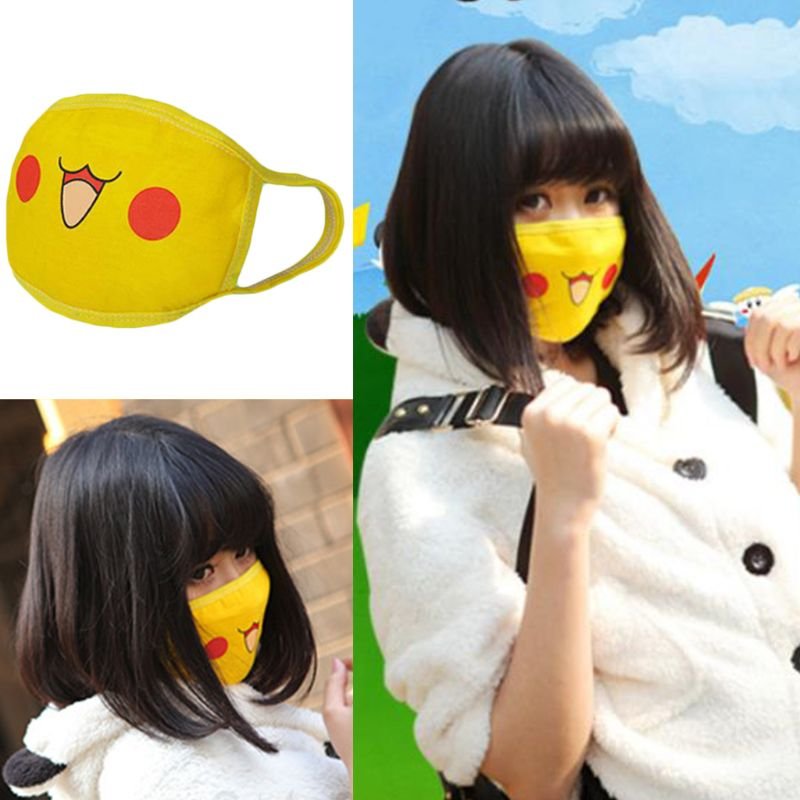 Women Men Cute Anime Figures Cosplay Mouth Mask Kawaii Cartoon Face Printed Anti Dust Earloop Mouth-Muffle Party Props