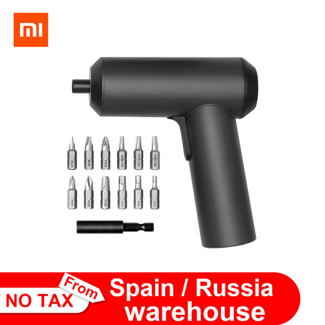 2019 Original Xiaomi Mijia Electric Screwdriver With 12Pcs S2 Screw Bits 3.6V 2000mah Cordless Rechargeable Electric Screwdriver
