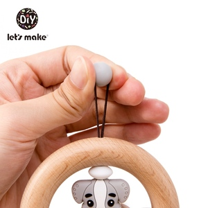 Image 4 - Lets Make Baby Toys Rattles For Newborns Bed Bell Wooden Ring 0 12 Months Beech 1PC Animal Panda Wood Teether Educational Toys