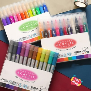 Image 2 - 3 Set/Lot 36 Colors Acrylic Metallic Color Marker Pens Washable Glitter Bling Paint Drawing Nail Metal Glass Journal Art A6117