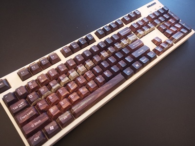 1 set <font><b>60</b></font>/87/104 keys wood grain PBT Dye Sublimation <font><b>Keycaps</b></font> mechanical <font><b>keyboard</b></font> Key caps for MX switch image