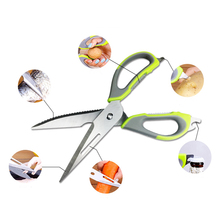 купить Kitchen Scissors Knife For Fish Chicken Household Stainless Steel Multifunction Cutter Shears Cooking Tools дешево