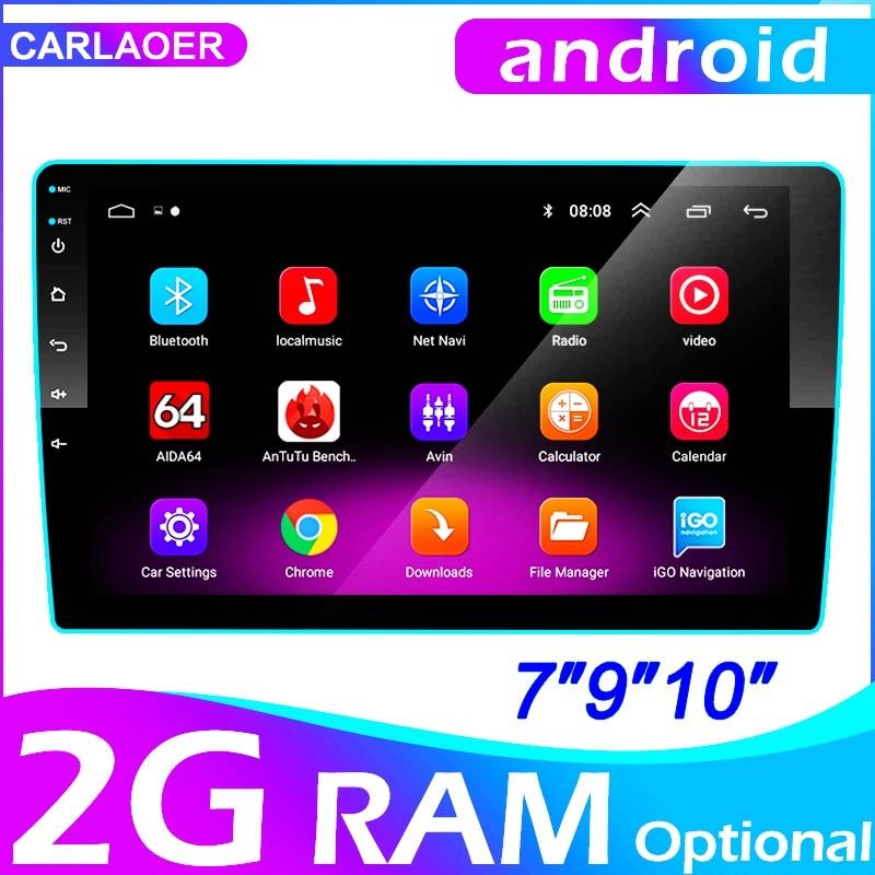 2 din carro android rádio multimídia player 9 inche 2g ram para toyota volkswagen hyundai kia renault zuk nissan honda audi lada