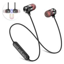 Y10 bluetooth headset mobile magnetic wired in-ear stereo headset Support volume adjustment universal headset