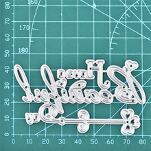 DiyArts Letter Dies Beautiful Word Metal Cutting New 2019 for Craft Scrapbooking Die Cut Embossing Stencil Card Making