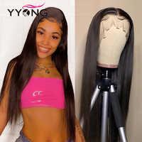 Yyong 13x4 dentelle avant perruques 12-26 pouces pré plumé péruvien dentelle avant perruques de cheveux humains avec bébé cheveux Remy bas Ratio dentelle perruque 120%