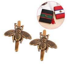 Модная пряжка в виде пчелы для украшения сумочки diy металлическая