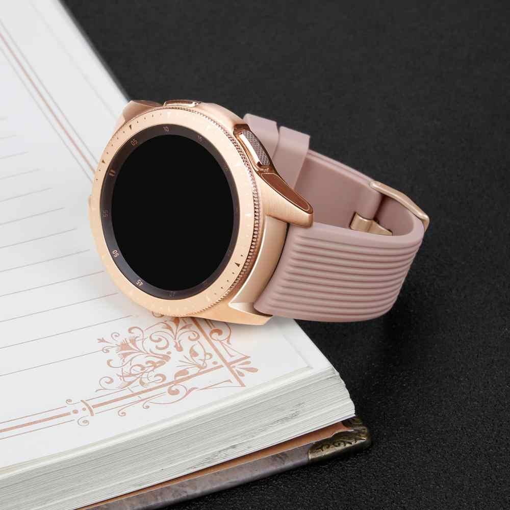 Correa de reloj de 20mm para Samsung Galaxy watch 42mm/active 2 pulsera de silicona para Huawei Watch GT 2 42mm/Amazfit bip