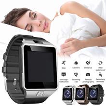 Ouhaobin Bluetooth inteligentny zegarek Dz09 Smartwatch telefon z systemem Android połączenie połącz zegarek mężczyźni zegarek zegar kobiety męska Reloj Hombre Homme tanie tanio CN (pochodzenie) Dla systemu iOS Na nadgarstek Zgodna ze wszystkimi 128 MB Krokomierz Rejestrator aktywności fizycznej