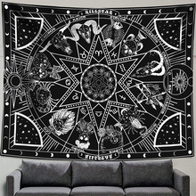 Constellation Tapestry Witchcraft-Decoration Wall-Hanging Psychedelic Astrology Bedroom