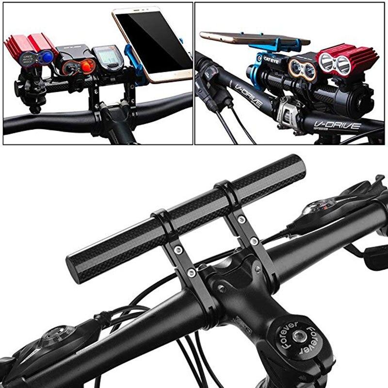 Mountain Bike Bicycle Handlebar Flashlight Phone Mount Extender Bar Bracket UK