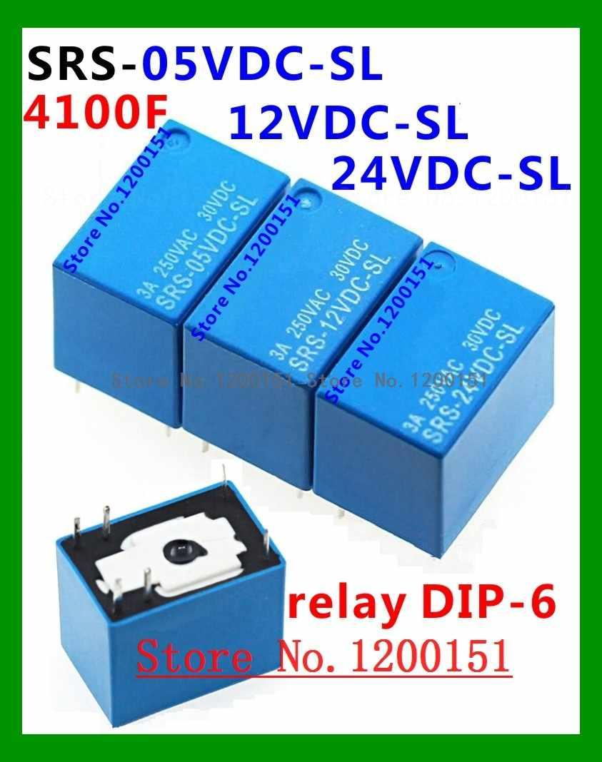 4100 SRS-05VDC-SL SRS-12VDC-SL SRS-24VDC-SL 5V 12V 24V 3A relais DIP-6