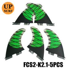 FCS II 3+2 Per Set Honeycomb Carbon Fiber of 3Colors Surf Fins Surfboard Fin FCS2 Fins G7+G3 and G5+G3 5 Fins Set Free Shipping kirby paper bag style 3 and g3 pkg of 3 197289sw