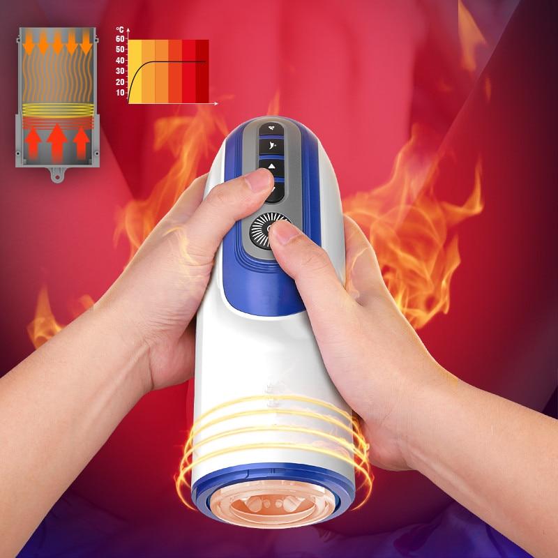 smart Intelligent Automatic Telescopic Male Masturbator Heating Penile Massager Sex Toy Car Accessories for Airpod Xiaomi