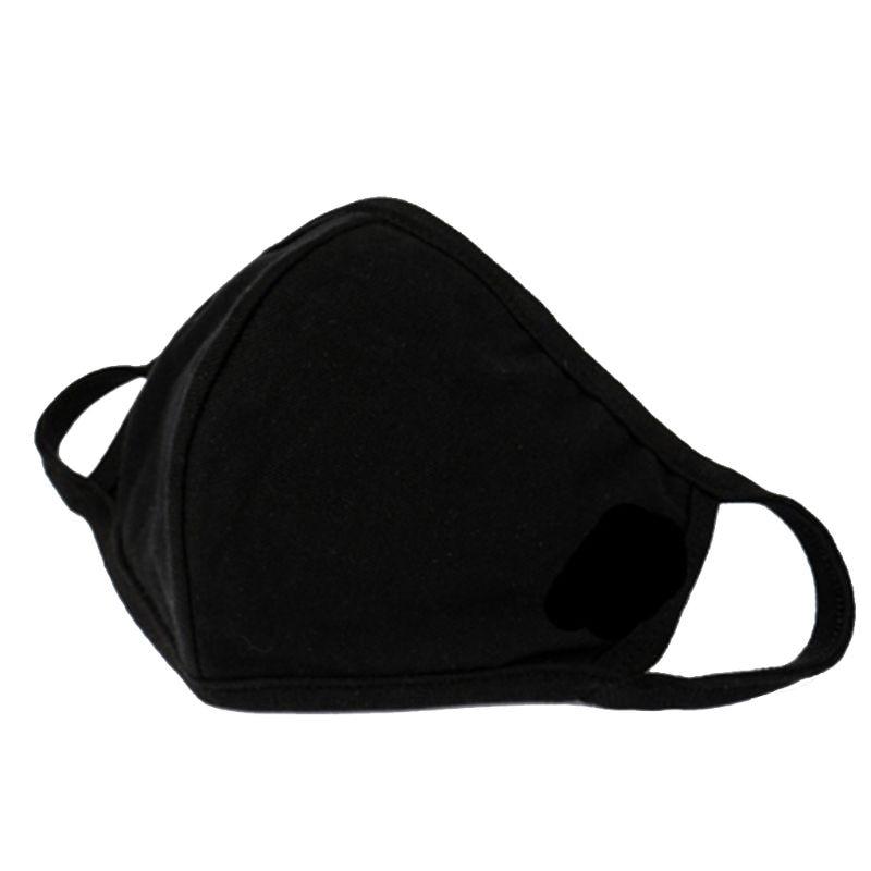 3pcs Fashion Anti-dust Breathable Protective Face Masks Unisex Black Washable