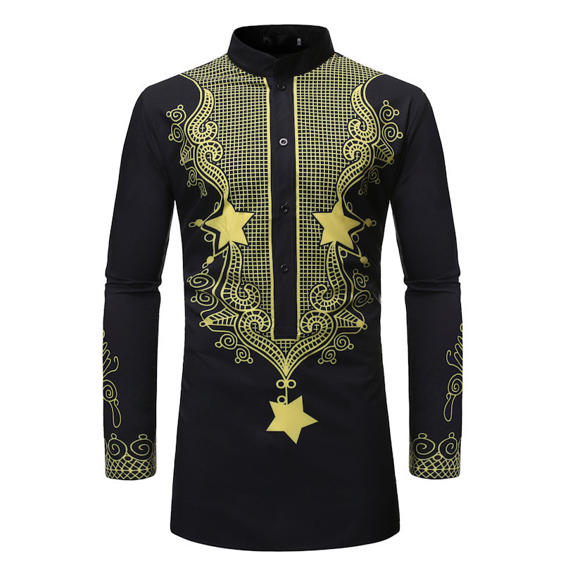 Men African Clothes 2019 Fashion African Dashiki Robe Dress Shirt Men Hiphop Streetwear African Clothing Camisa Social Masculina Africa Clothing Aliexpress
