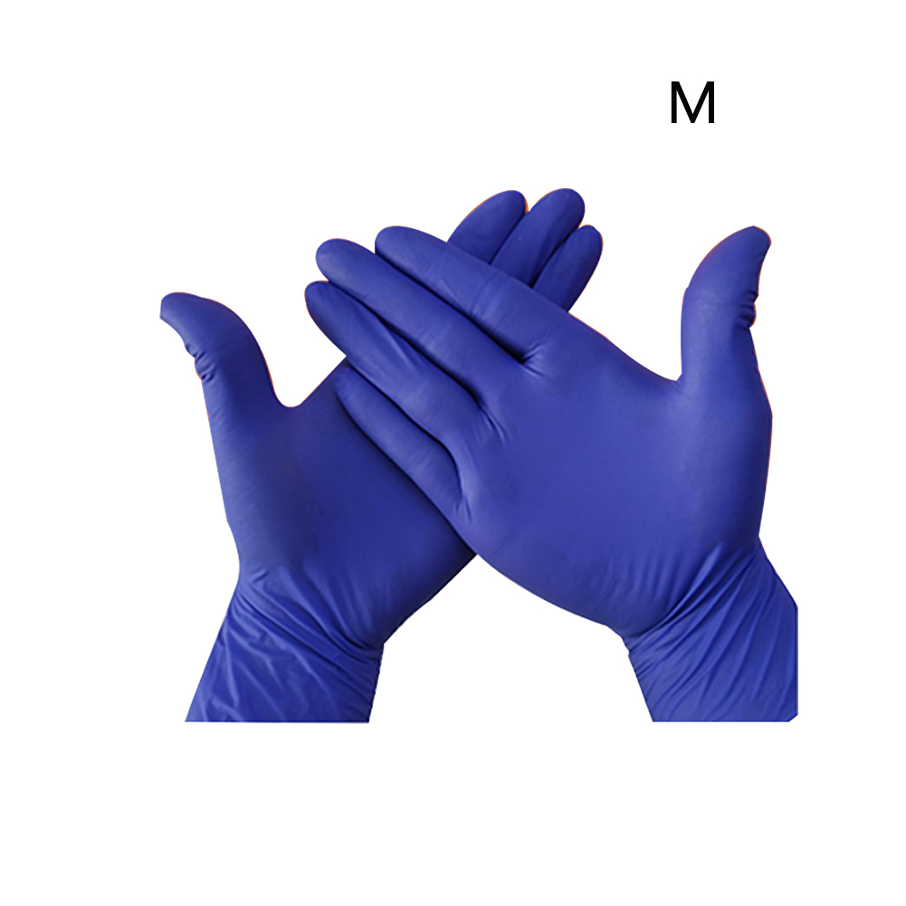 100Pcs Waterproof Powder Free Disposable Thick Nitrile Gloves Mechanic Household Cleaning Washing Medical Testing Multipurpose