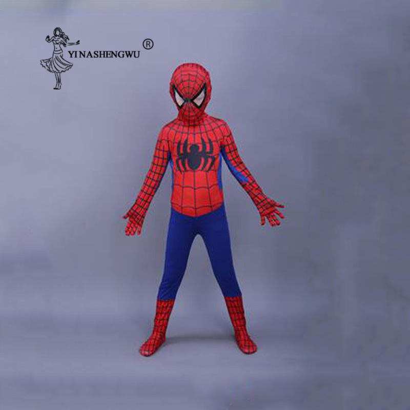 Cosplay Costume Red Spiderman For Children Clothing Set Spider Man Suit Halloween Party Cosplay Costume For Kids Anime Cosplay