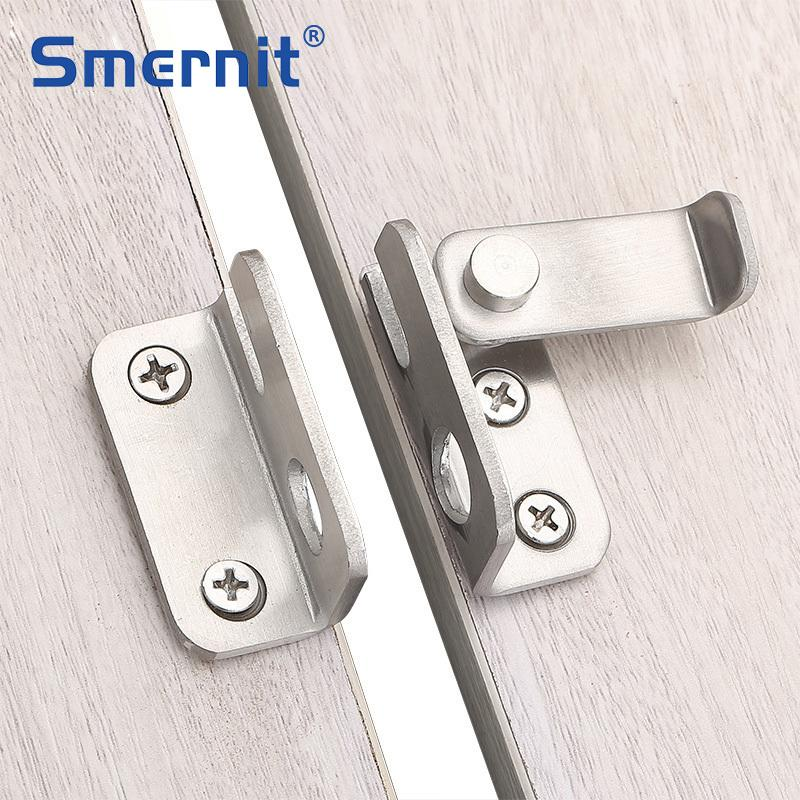 Stainless Steel Cabinet Lock Hasp Latches Sliding Door Simple Convenience Lock For Home Hotel Door Security Hardware
