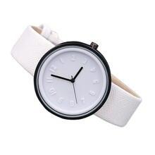 Часы наручные унисекс с цифрами Простые Модные кварцевые холщовым