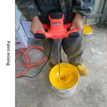 Anjieshun electric mixer 6-speed adjustable speed paint mixer cement mixer putty powder suitable for industrial production 2100W mod 210 mod 50 230v liquid mixer industry agitator variable speed electric mixer can mix feed coating paint cement etc