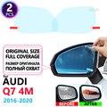 Полноразмерная противотуманная пленка, непромокаемые зеркала заднего вида для Audi Q7 4M 2016 ~ 2020 автомобильные аксессуары для пленки-наклейки ...