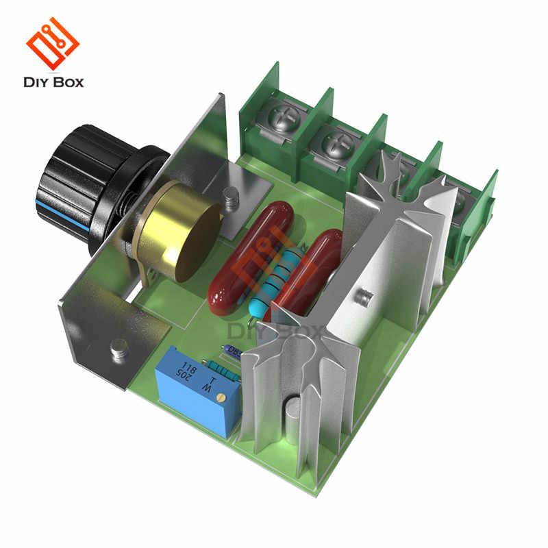 AC 220V 2000 3800W SCR 電圧レギュレータ調光調光器モータ速度コントローラサーモスタット電子電圧レギュレータモジュール