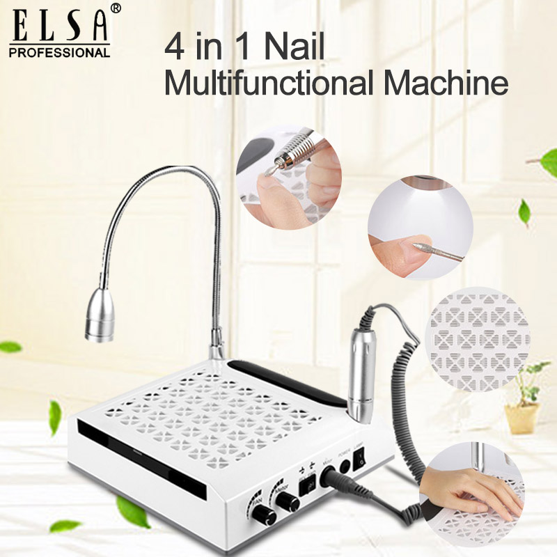 4 IN-1 Nail Drill & Nail Dust Collector Manicure With Two Powerful Fan Vacuum Cleaner For Manicure Tool Everything For Manicure