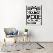 Game Room Home Decor Computer Video Game Zone Loading Decal Wall Quote Mural Gamer Sign Vinyl Wall Sticker Playroom Decor недорого
