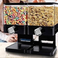 Double Cereal Dispenser Storage Container Dry Food Snack Kitchen Canister Fresh for Kitchen Storage Food Bottle