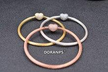 2020 Fine Jewelries DORANPS 925 mesh beads fpr charm bracelet women bangle jewelry lady gifts,1pz брюки lady charm