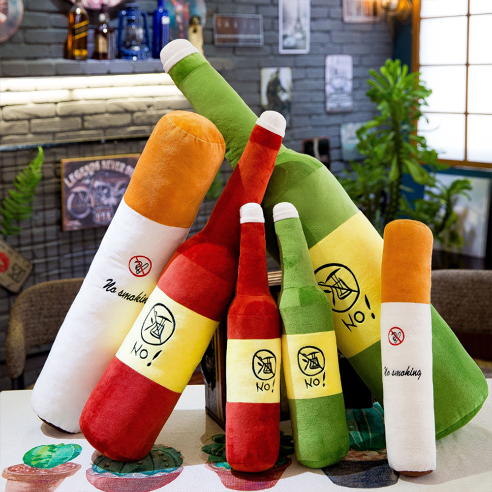 Creative cigarette pillow alcohol large doll send boyfriend husband plush toy Valentine 39 s Day gift 50 120 cm WJ208 in Movies amp TV from Toys amp Hobbies