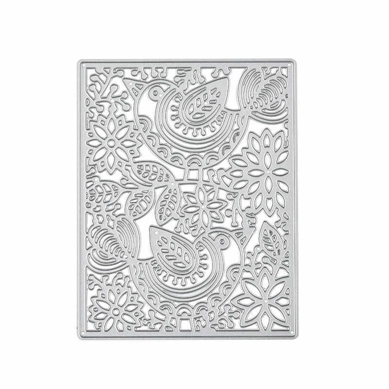 Kokorosa çiçek çerçeve ölür arka plan Metal kesme ölür için yeni 2019 kart yapımı Scrapbooking ölür kabartma kağıt şablon