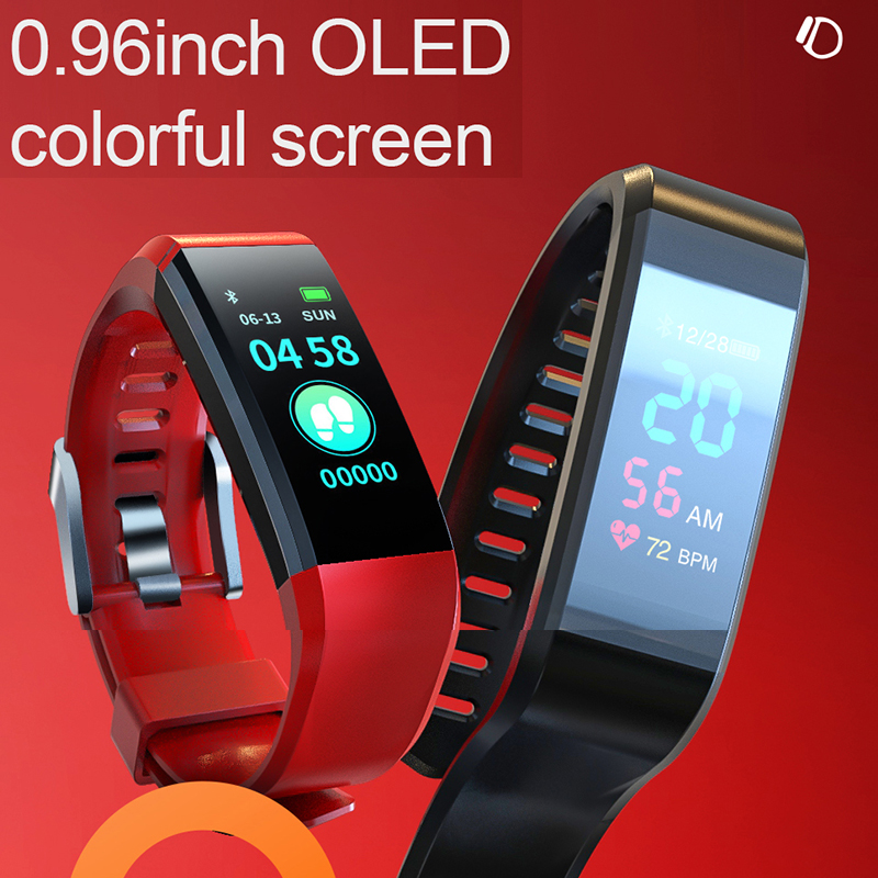 Smart Bracelet Wristband Blood-Pressure-Watch Heart-Rate Waterproof Women Pk Ip67 3-4