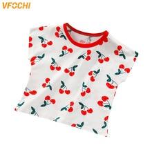 VFOCHI Boys Girls T Shirts Cartoon Print Tee Children Clothes Kids T Shirt Teenager Unisex Tops Short Sleeve Girls Boys T Shirts girls cartoon print tee