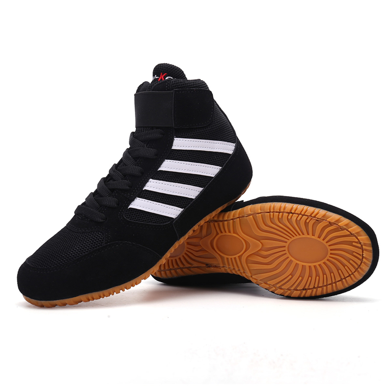 Professional men Wrestling Shoes Rubber Outsole Breathable men  Boxing Boots Children Fitness Training Sneakers