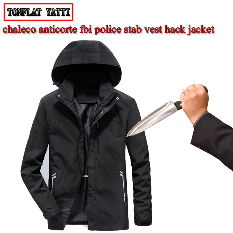 2019 Self-defense Stab-proof Anti-cutting Tactical Hooded Jacket Invisible Flexible Security Police Fbi Protective Swat Clothing
