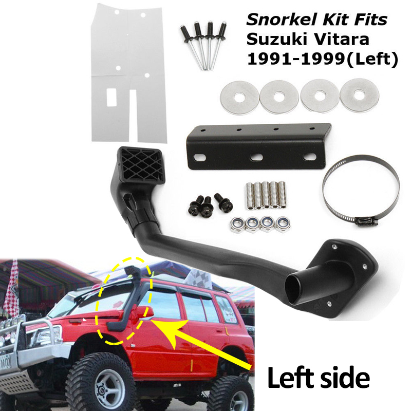 1 Set Car Snorkel Kit Left Side For Suzuki Vitara 1991-1999 1.6L Petrol G16B 4WD 4x4 Air Intakes Parts Set