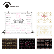 Allenjoy photography photo background repeat writing wall wedding birthday party personalized custom photocall boda vinyl