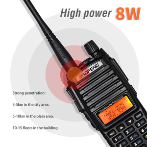 Image 3 - 8W High Power BaoFeng UV 82 Walkie Talkie Dual Band FM Transceiver 10KM 128CH Portable CB Ham Radio UV82 Hunting Two Way Radio