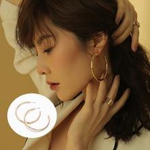 Fashion Jewelry Large Metal Hoop Earrings For Women Big Round Circle Earrings Gold Zinc Alloy Nightclub Earrings цена 2017