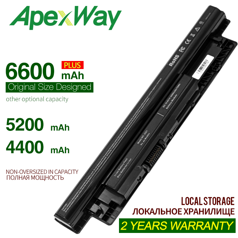 ApexWay 4400mAh Korea Cell MR90Y Battery For DELL Inspiron 3421 3721 5421 5521 5721 3521 3437 3537 5437 5537 3737 5737 XCMRD